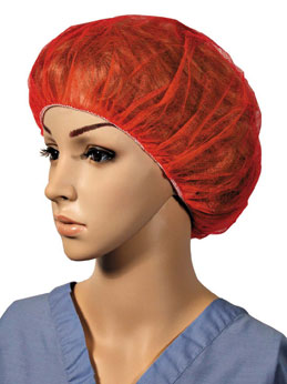 Hand Sewn Bouffant Red