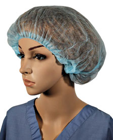 Pleated Bouffant Blue